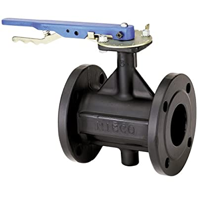 """NIBCO FD-5765-3 Series Ductile Iron Butterfly Valve with EPDM Encapsulated Ductile Iron Disc, Lever-Lock Handle, Flanged, 8"""" by NIBCO"""