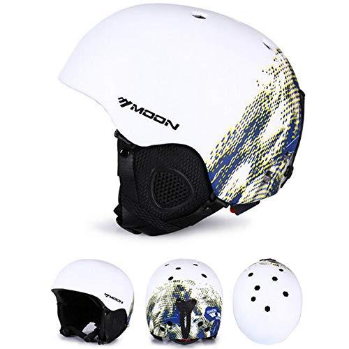 Outdoor-Skihelm, Sicherer bequemer weicher und atmungsaktiver Snowboardhelm für Männer und Frauen, EPS + PC integrierter Abnehmbarer Schlittenhelm (S/M/L/XL)