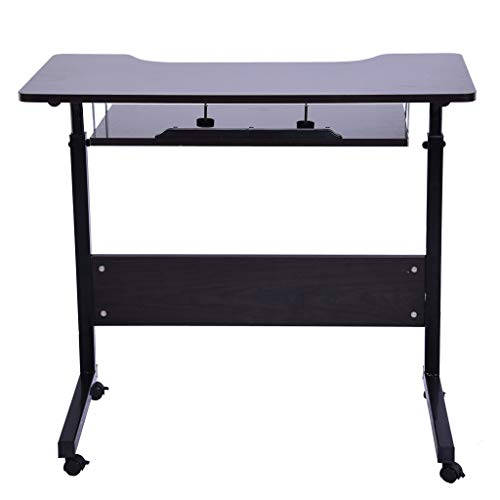 YAYUMI Home Office Desk Can Be Raised and Lowered Mobile Computer Desk Lazy Table Craft Desktop 80x40x70-90CM