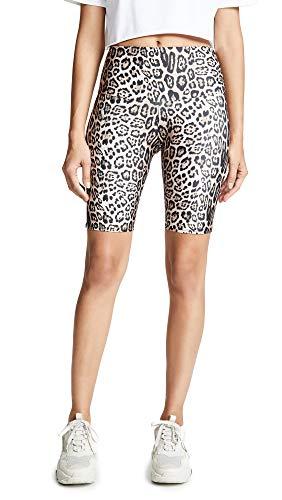 Onzie Damen Hig Rise Bike Yoga-Shorts, Leopard, Medium/Large