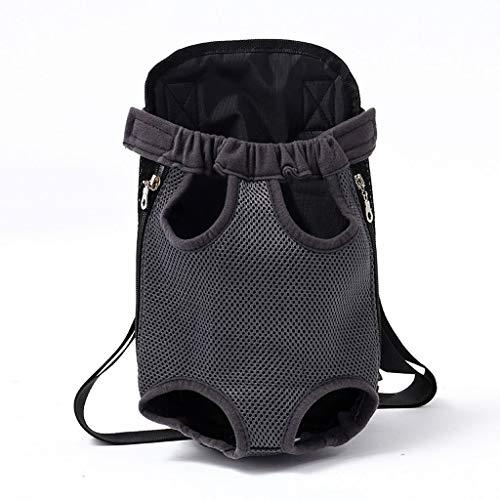 XL- Zaino per Animali Domestici Viaggio Traspirante Zaino per Cani Adatto per Viaggi All'aperto (Color : Black)
