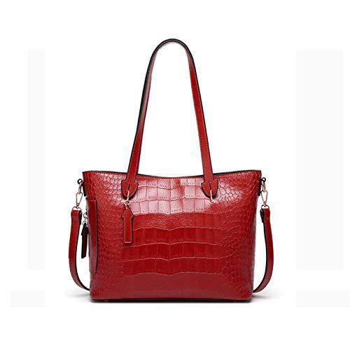 YTQ Bolsos de mano para mujer de piel sintética de gran capacidad para mujer, color rojo