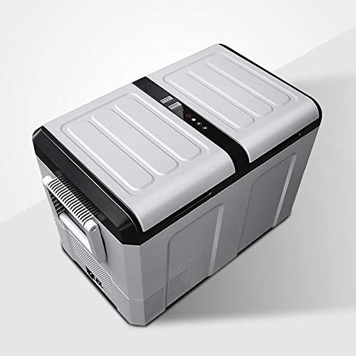 GAOXIAOMEI Congelador Portátil 2 En 1 De 47-Cuartos, Nevera Portátil para Automóvil, Pantalla LCD para El Hogar, Mini Frigorífico para Viajes De Acampada En Vehículos, Puertas Dobles
