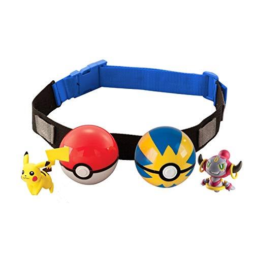 Zking 1Pcs Pokemon Belt Ball Pikachu Circunferencia De La Cintura 70-120 Se Puede Usar Pokeball Pocket Monster Variant Modeltoy Set Figura De Acción Modelo Juguete para Niños