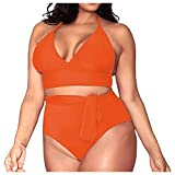 Lavany ❤️ Women Plus Size Solid Casual Sexy Swimsuit Set, Womens Summer High