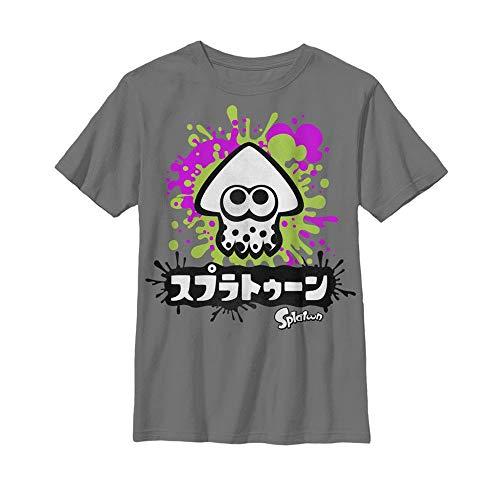 Camiseta juvenil Splatoon Inkling, Cinza, X-Large