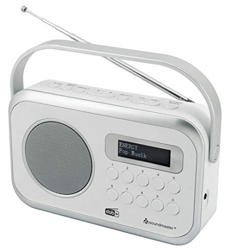 Soundmaster DAB270WE tragbares DAB+ und UKW-RDS Digitalradio mit Kopfhörerbuchse