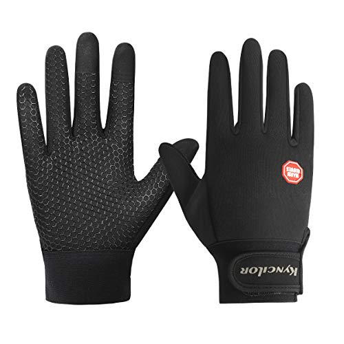 Winter Running Gloves Touchscreen Thermal Gloves Men Women Winter Windproof & Waterproof Gloves Snow Warm Gloves Liners for Running, Cycling, Driving Skiing Outdoor Sports (A, Small)