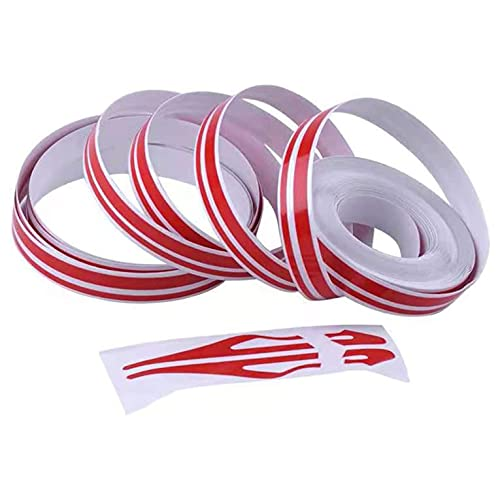 Red Car Body Side Stripe, DIY Vinyl Vehicle Pin Striping Decals, Auto Pins Tripe Tape