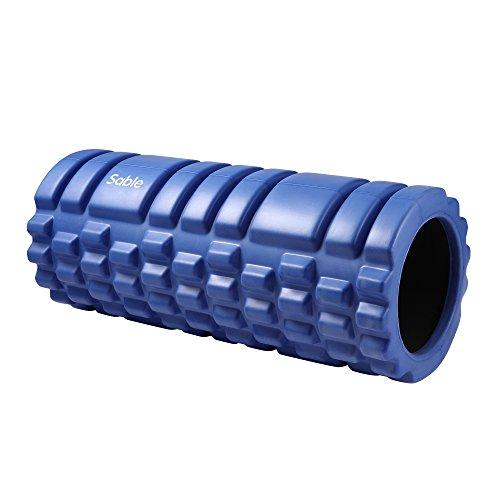 Rodillo Masaje Sable, Rodillo Espuma Masaje Muscular, Liberación Miofascial Foam Roller, Fitness, Pilates, Yoga, Cilindro Masaje con Diseño Trigger Point Texturas 3D (14 X 33cm) - gimnasio o ejercicios en casa