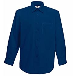 Standard collar and self-fabric chest pocket. Self-coloured buttons. Also available in ladies sizes, code 65012. Weight: 115-120g/m². Fabric: 55% Cotton, 45% Polyester.