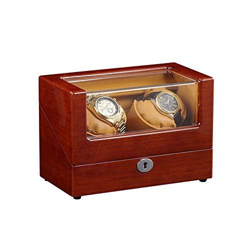 AYYEBO Cajas Giratorias para Relojes, Caja Relojes Automaticos Caja, Almohada Flexible Cuero Felpa, Watch Winder, Configuraciones Controladas Independientemente