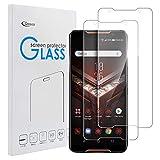 qoosea pellicola vetro temperato asus rog phone zs600kl [2 pack] protezione schermo ultra clear durezza 9h protezione antigraffi shockproof 0,36mm hd alta trasparente pellicola