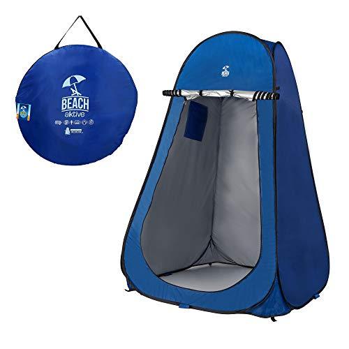 Aktive 62162 Tienda Ducha Cambiador para Camping sin Suelo, Azul, 120 x 120 x 190 cm