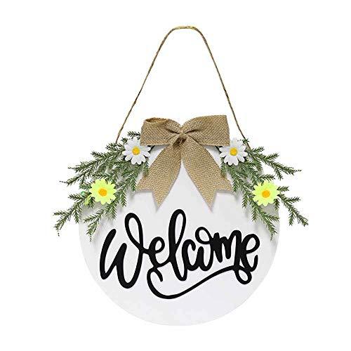 Pasqua Decorazioni Legno, Treer di Pasqua Ornamenti Hanging Appeso Coniglietto Tavola Giardino Decorazione per Bambini Artigianali Regali di Pasqua (Bianca,30cm)