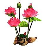 Redcolors - Decoración simulada de resina de loto para el hogar, peces, acuario, paisaje, raíz de loto, rojo, hermoso y duradero