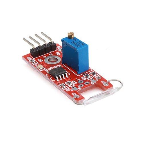 Módulo ampolla reed sensor magnético shield botón interruptor (Arduino-compatible)