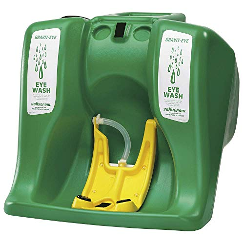 Sellstrom Eye Wash Station, Portable, Gravity Flow Emergency Washing, First Aid Equipment with 16 Gallon Tank, Dual Spray Heads for Worksite and Recreational Accidents, Meets ANSI, S90320