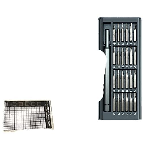 Juego de destornilladores 25/63 en 1 Brocas de destornillador magnético Mango hexagonal Kit de destornilladores para reparación de teléfonos móviles-China, Plástico 25 en 1 SetA