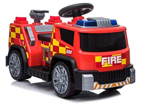 fit4form Elektroauto Feuerwehrauto Mini Fire Truck 6V Kinderfahrzeug Kinderauto elektrisch