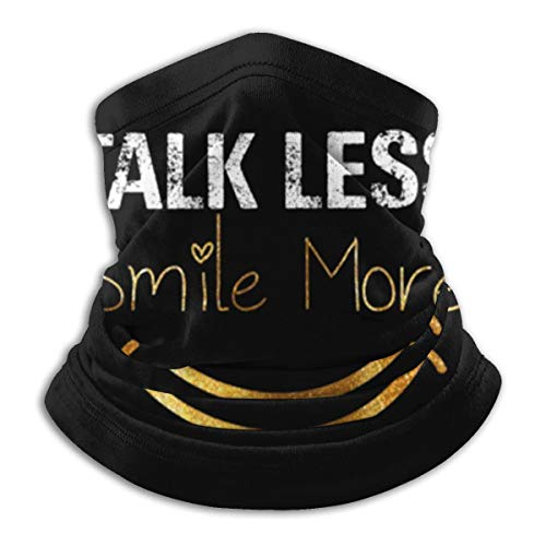 Talk Less Smile More Hamilton Funny Quote Face Mask Neck Gaiter Multi-Functional Balaclava Bandana For Dust Outdoor