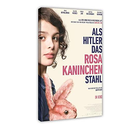 Poster in tela con film quando Hitler ha rubato il coniglio rosa 1, decorazione per camera da letto, sport, paesaggio, ufficio, decorazione regalo, 60 x 90 cm
