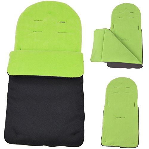 Saco cubrepiés compatible con carrito Maclaren Techno XT/Quest/XLR/Volo, color verde lima