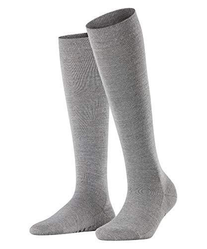FALKE Damen Kniestrümpfe Softmerino - Merinowoll-/Baumwollmischung, 1 Paar, Grau (Light Grey Melange 3830), Größe: 41-42