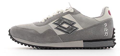 Zapatos Sneaker Hombre LOTTO Leggenda S5824 Tokyo Targa Gray Beige Black Nueve