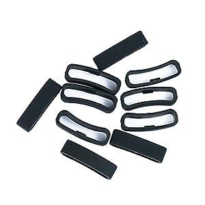 sharprepublic Anillo De Cierre De Repuesto De 10 Piezas para SUUNTO Ambit1 / Ambit2 / Ambit3, Lazo De Seguridad De Silicona para El Suunto Core/Spartan (4 Estilos - Negro 1, 24mm