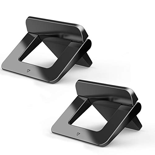 Mini Laptop Stand, Licheers Portable Laptop Stand for Desk, Invisible Cooling Laptop Holder Stand, Compatible with MacBook Pro, MacBook, MacBook Air, Dell XPS, HP, Lenovo, or More Laptop (2 Pcs)