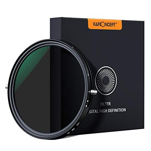 K&F Concept ND Filter 72mm CPL&ND2-ND32 2 in 1 multifunktionaler Graufilter und CPL Filter Polfilter
