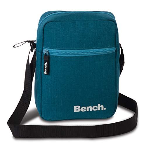 Bench kleine Umhängetasche Schultertasche Small Shoulderbag Crossbag 64153, Farbe:Petrol