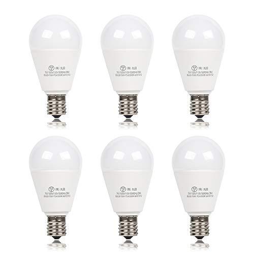 xydled LED電球 E17口金 60W形相当 730lm 調光器対応 昼光色 7W LED 電球 e17 広配光タイプ 密閉形器具対応 60形 6個セット (昼光色)