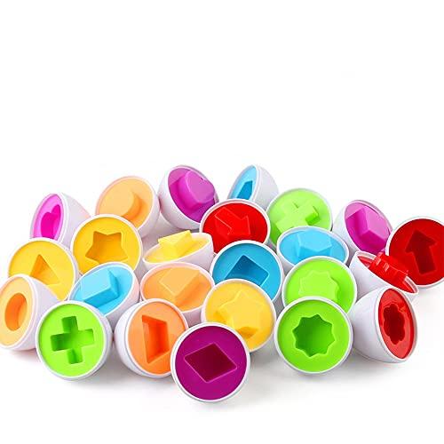 VCOSTORE Uova abbinate Giocattoli educativi Colori e Forme Puzzle Ordinamento delle Uova Abilità Eccellente abilità motoria Giocattoli educativi per Bambini