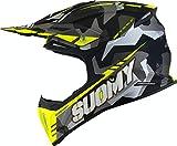 Suomy X-Wing Camouflager Casco Motocross Giallo opaco