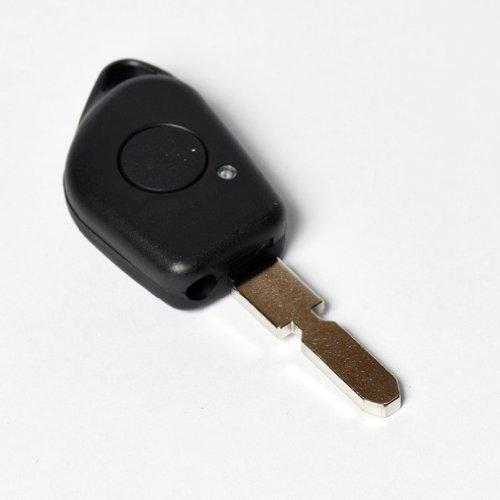 JONGO - Coque de Clé avec Lame Compatible avec Peugeot 406 | Boitier Clef Plip Voiture Télécommande 1 Bouton avec système Infrarouge