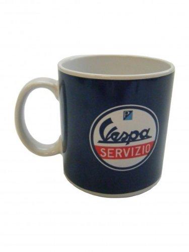 Original Vespa Tasse blau mit Servizio Logo
