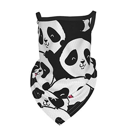 Funny Shy Panda Kids Face Mask Bandana Neck Gaiters With Ear Loops, Reusable Face Cover For Boys Girls Outdoor - Scarf Bandana Dust Wind Sun Uv Balaclava Headwear