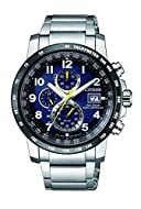 Citizen Men's Chronograph Eco-Drive Watch with Stainless Steel Strap AT8124-91L