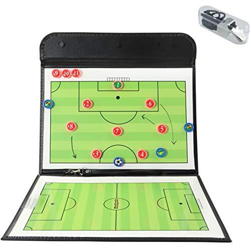 LionSports Profi Taktiktafel - Ideal für Taktiken und Spielanpassungen - Verbesserte Laufwege der Spieler mit diesem Trainingszubehör - Mit Geld zurück Garantie - 90 Tage testen (Taktiktafel)