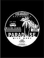 【FOX REPUBLIC】【LA ロサンゼルス マリブ カリフォルニア】 黒光沢紙(フレーム無し)A3サイズ
