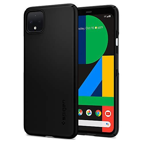 Spigen Thin Fit Kompatibel mit Google Pixel 4 XL Hülle, Slim PC Schale Hardcase Leicht Dünn Schutzhülle Handyhülle Hülle Schwarz F25CS27545