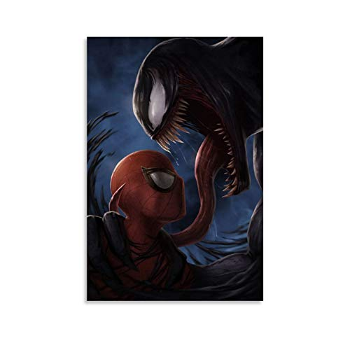 Ghychk Spider-Man – Póster de superhéroes de Veneno de cómics, lienzo decorativo pintado para sofá, fondo de pared para sala de estar, listo para colgar, 30 x 45 cm