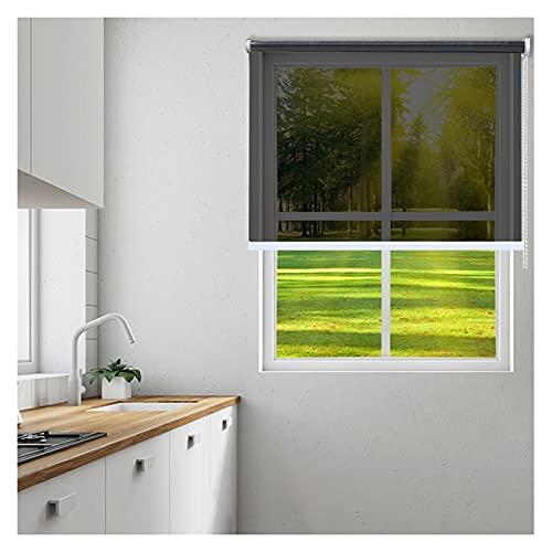 Persiana Enrollables Bambú Cortinas Enrollables de Espejo Unidireccionales para Ventana, Protección de Privacidad para Cocina / Sala de Estar / Oficina, Bloqueador Solar, Reflectante y con Aislamiento