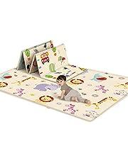 Kid Speelkleed, Niet Giftig Opvouwbare Vloermat Schuim Waterdichte Baby Kruipende Mat voor Jongen Meisje, Uitvouwen Maat: 180x100x0.6cm