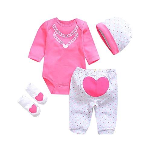 Collar rosa Patrón de cocodrilo Reborn Baby Doll Monos Ropa Realista Muñeca Ropa Traje Conjunto Regalo de cumpleaños Muñeca Ropa (Color de la mezcla) ESjasnyfall