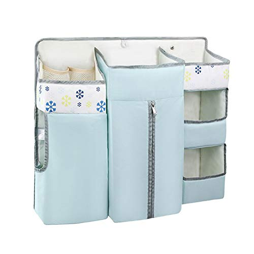 Newin Star Hanging del Pannolino del Pannolino Caddy Organizer, 7-in-1 Multifunzione Diaper Organizzatore Appendere Sacchetti di stoccaggio per Culla, fasciatoio o Parete, Blu