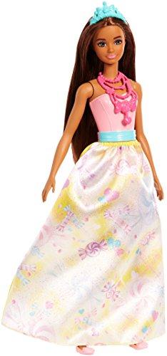 Barbie Dreamtopia, muñeca Princesa morena, juguete +3 años (Mattel FJC96) , color/modelo surtido