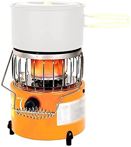 ZHJ Portátil 2 en 1 Estufa de acampar Calentador de gas Calentador de calentador al aire libre Estufa de cocina para al aire libre Camping Senderismo Adecuado para tiendas de campañas Picnics